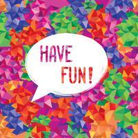 Viel Spaß beim Beschriften der Sprechblase. Lustiges Zeichen. Party Einladung.