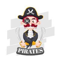 Pirata con due spade