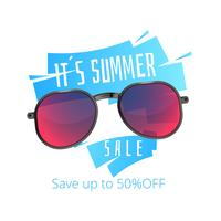Cartel de verano de gafas de sol.