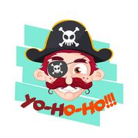 Pirate illustration for shirts