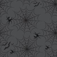 Halloween seamless pattern. Holiday background with bat, spider, vector