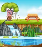 Een natuurparklandschap