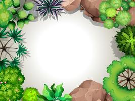 Een sjabloon met luchtfoto tuinzicht