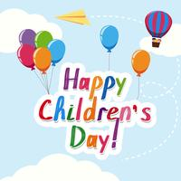 Plantilla del día de los niños felices