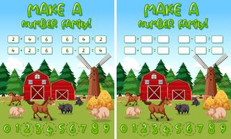 Make a number family farm background