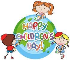 Icona di giorno dei bambini felici