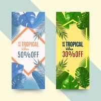 Tropical vibes flyers