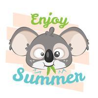 Illustration de Koala mangeant pour une chemise