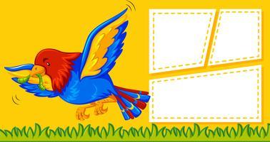 Un pappagallo sul modello di nota