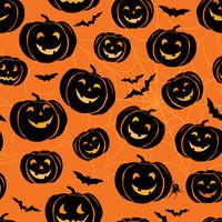 Halloween seamless pattern. Holiday ornamental background with b vector