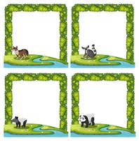 Set of animal frame vector