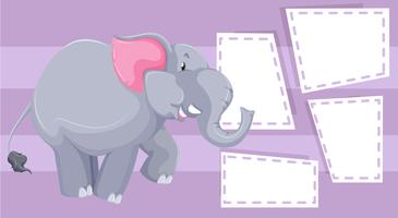 Elefant på anteckningsmall