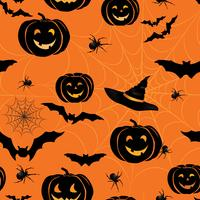Happy Halloween seamless pattern. Holiday party background with  vector
