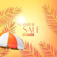 Orange summer sale sun background