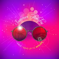Sunglasses summer background