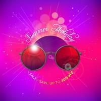 Sunglasses summer background