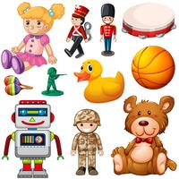 Set of childrens toys