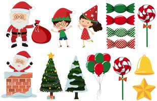 A Set of Christmas Element vector