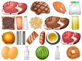 Set of healthy food vector