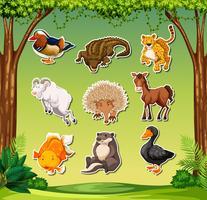Satz von Tier Sticker Pack