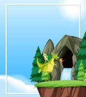 Dragon flyger i naturmallen