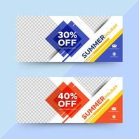 Square summer sale banners
