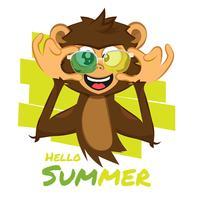 Macaco com óculos de verão