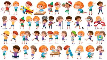 Set of children character vector