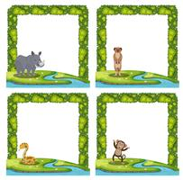 Set of animal frame