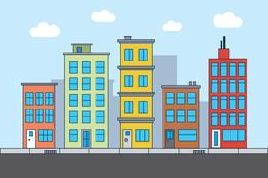 city street illustration