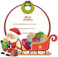 Eine Kartenschablone der frohen Weihnachten