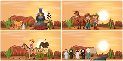 Set of desert scene