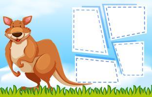 Känguru på anteckningsmall
