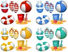 Set di elementi da spiaggia