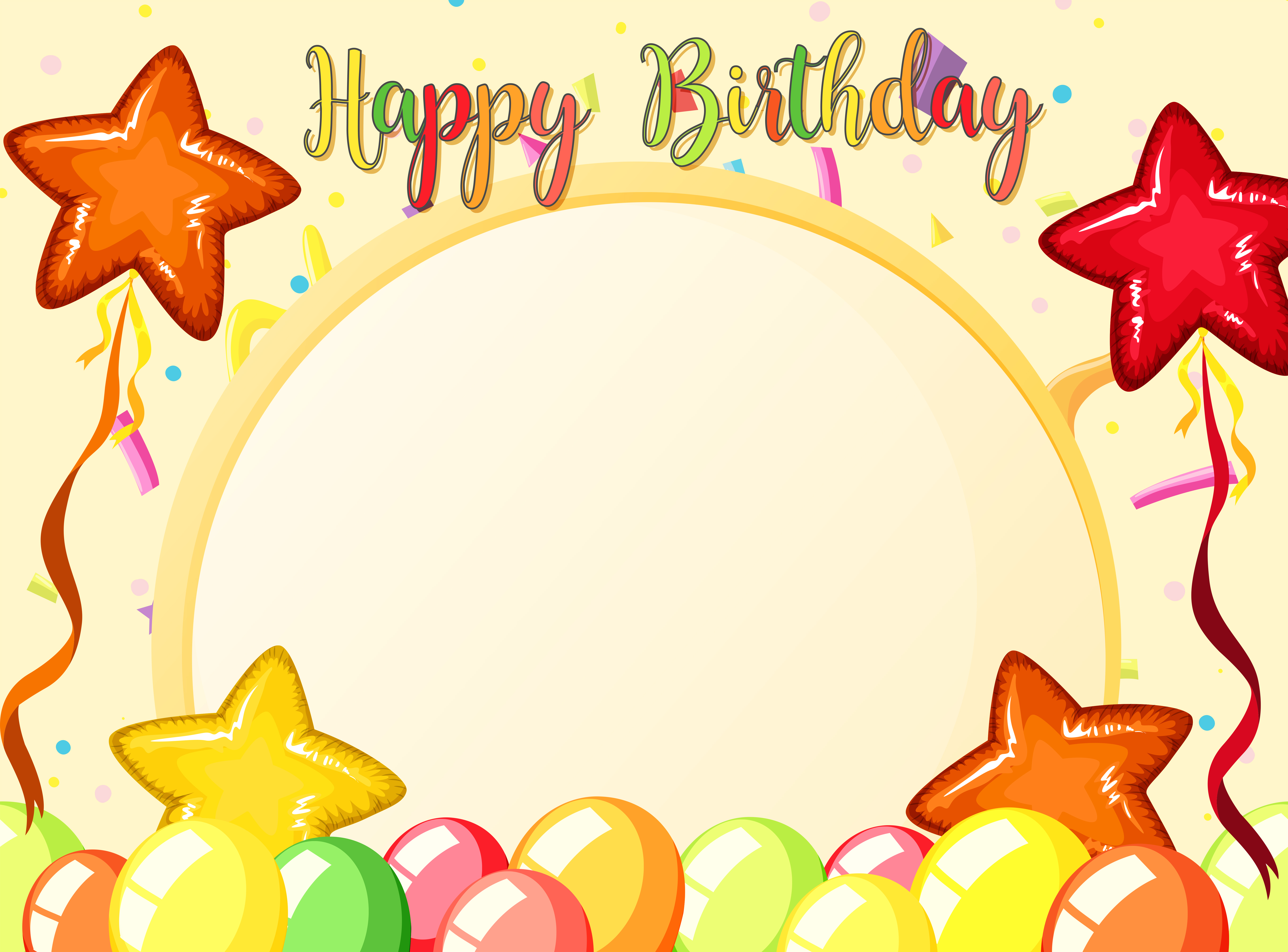 Strange Happy Birthday Card Template Download Free Vectors Clipart Personalised Birthday Cards Bromeletsinfo
