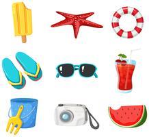 Un set di elementi Beach Summer