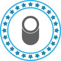 Icona di forma geometrica del cilindro di vettore