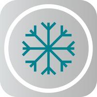 Ícone de floco de neve de vetor