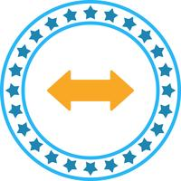 Vector dubbele pijl pictogram