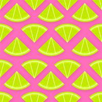 Fresh Lime Slices Vector Background