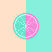 Citrus Slice Vector Pop Background