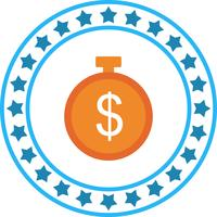 Icona del timer del dollaro vettoriale