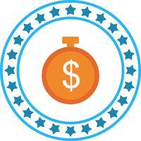 Vector Dollar Timer Icon