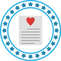 Vector Love Letter Icon