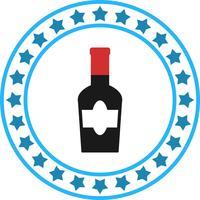 Vector icono de botella de vino