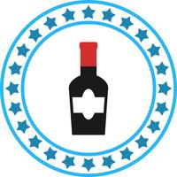 Vektor vinflaska ikon