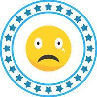 Vector Cry Emoji ícone