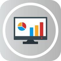 ikon för vektormarknadsföringstatistik