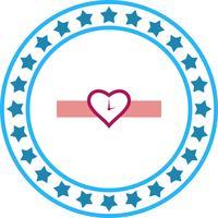 Icona della vigilanza del cuore di vettore