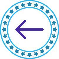 Vector terug pictogram